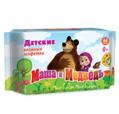 Влажные детские салфетки Маша и Медведь №64