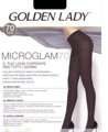 Колготки женские GOLDEN LADY Micro Glam, 70 den (marrone scuro, 2)