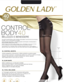 Колготки женские GOLDEN LADY Control Body, 40 den (nero, 3)