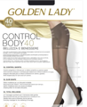 Колготки женские GOLDEN LADY Control Body, 40 den (daino, 2)